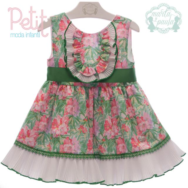 Vestido Niña Marta Y Paula Musas 6 Años Verde