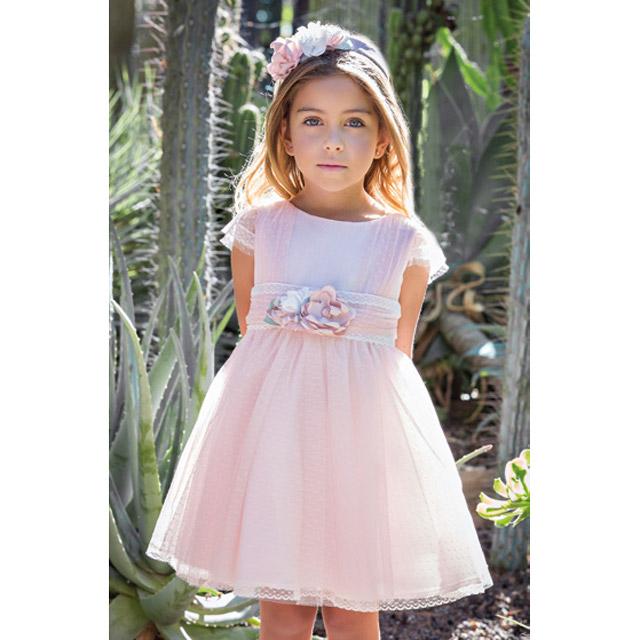 Vestido Ceremonia Amaya 6 Años Rosa Petit