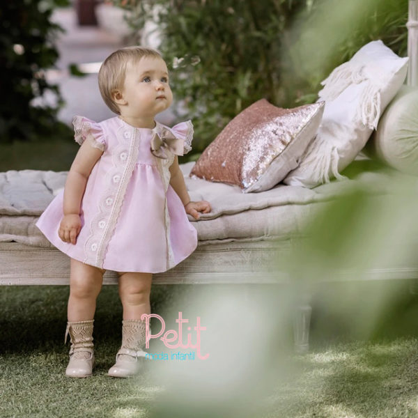 VESTIDO DOLCE PETIT ANNA 3 MESES ROSA