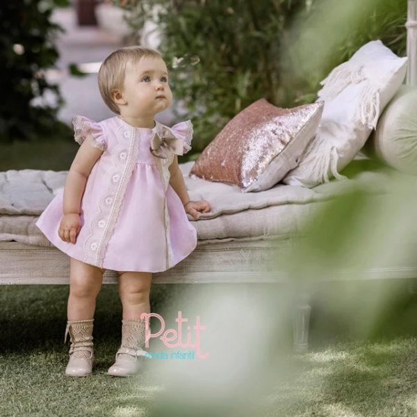 VESTIDO DOLCE PETIT ANNA 18 MESES ROSA