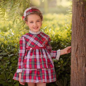 Miranda vestido cuadros Petit Moda Infantil
