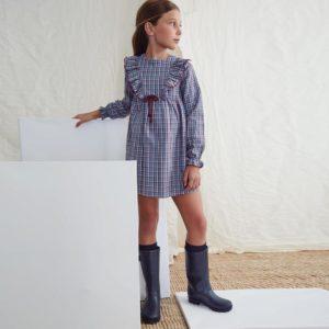 Vestido cuadros Petit Moda Infantil